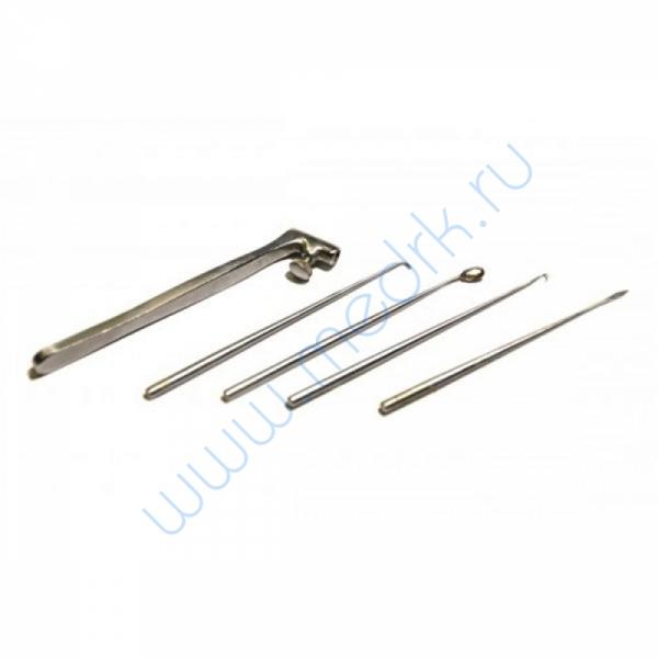 Набор инструментов для проведения малых ушных операций по Гартману