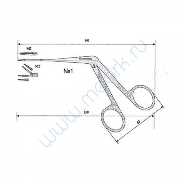 Щипцы ушные для удаления грануляций №1 ИЗ-168