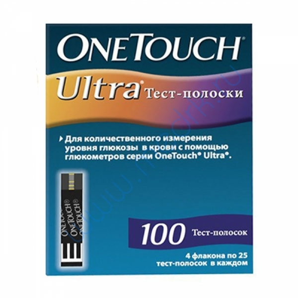 Тест-полоски OneTouch Ultra №100   Вид 1