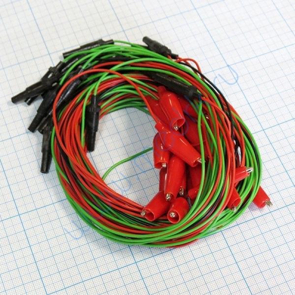 Комплект электродов для энцефалографии Эл ЭГМ (чашечковые электроды - 26 шт, электрод ушной - 2 шт, провода - 28 шт)   Вид 1
