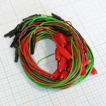 Комплект электродов для энцефалографии Эл ЭГМ (плоские - 22 шт, ушные - 2 шт, провода - 24 шт)