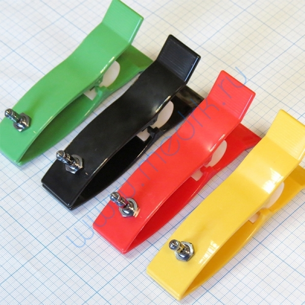 Электрод конечностный взрослый с винтом и зажимом (4 шт.)  Вид 3