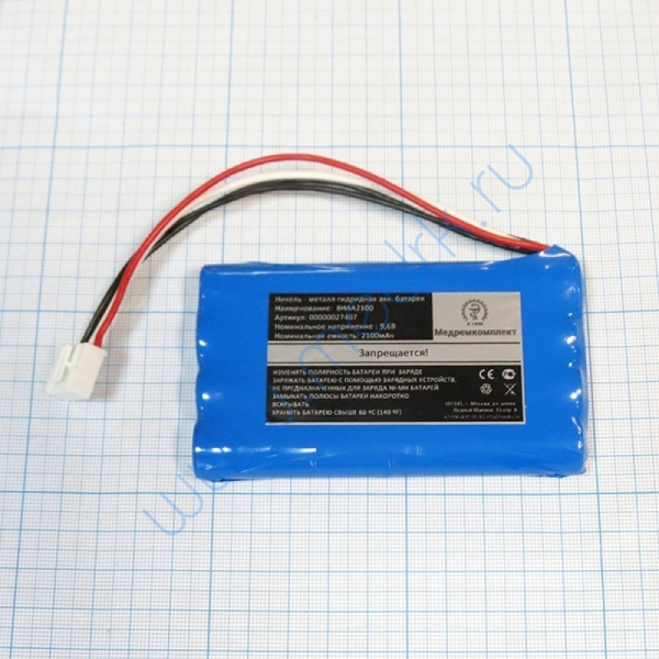 Батарея аккумуляторная 8H-AA2500 для электрокардиографа Fukuda FX-3010 (МРК)  Вид 1
