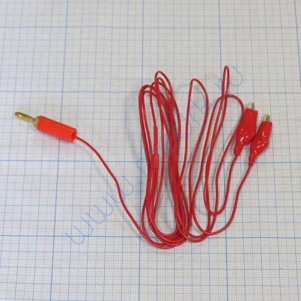 Кабель ПВХ красный 2 углетканевых токопровода к аппарату Поток-1  Вид 1
