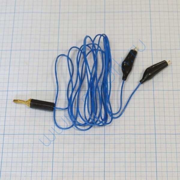 Кабель ПВХ синий 2 углетканевых токопровода к аппарату Поток-1  Вид 1