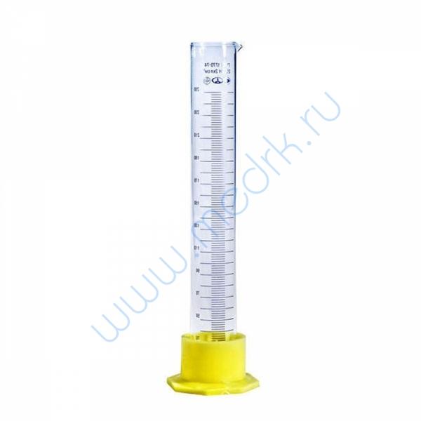 Цилиндр мерный 3-250-2 с носиком  Вид 1