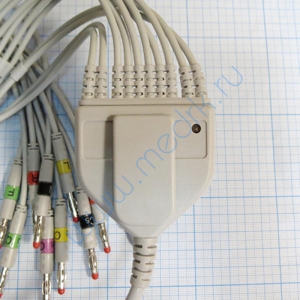 Кабель отведений ЭКГ OEM-V0713E-A для Миокард-12  Вид 5