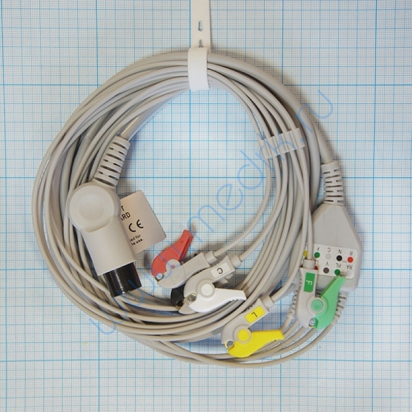Кабель отведений ЭКГ на 5 электродов