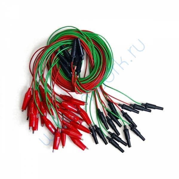 Комплект электродов для энцефалографии Эл ЭГМ (мостиковые - 26 шт, ушные - 2 шт, провода - 28 шт)  Вид 1