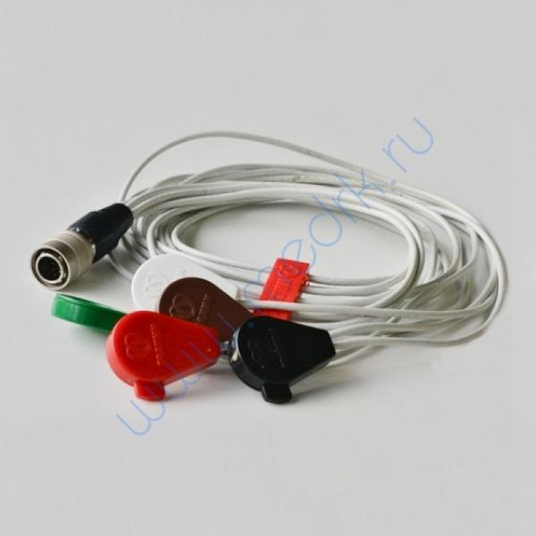 Кабель для одноразовых электродов на 3 отв. 5 эл-в  Вид 1