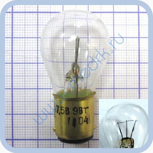 Лампа накаливания электрическая самолетная СМ 7,5-9 B15d/18