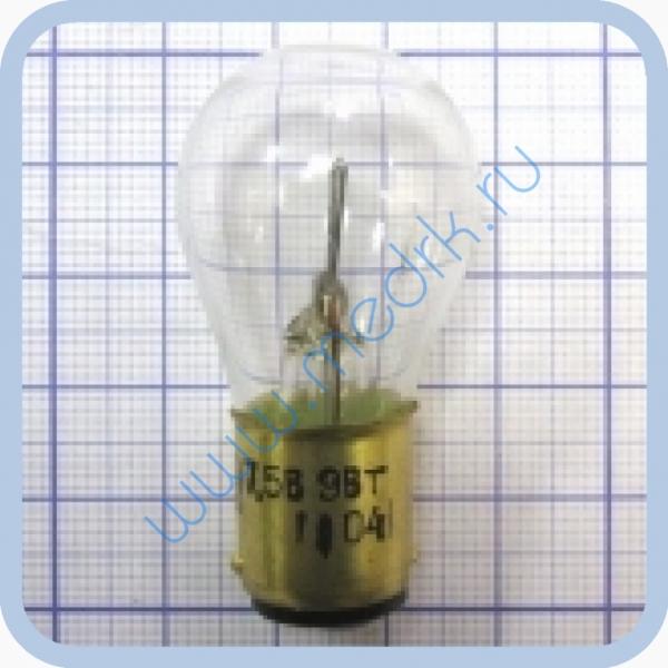 Лампа накаливания электрическая самолетная СМ 7,5-9 B15d/18  Вид 2