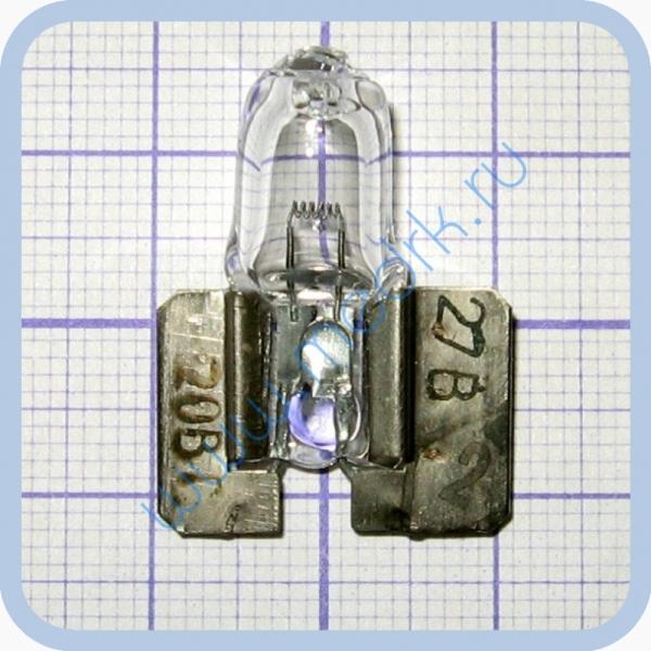 Лампа галогенная (галогеновая) КГСМ 27-20 кварцевая самолетная  Вид 1