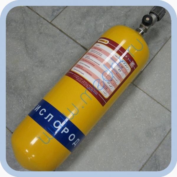 Баллон БМК-300В-4-2-1-1 (кислород, 4л) с вентилем КВМ-200А и чехлом  Вид 1