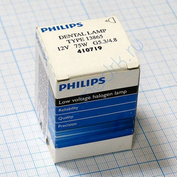 Лампа Philips 13865 12V 75W G5.3-4.8   Вид 1